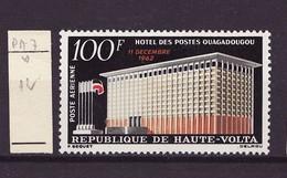 Haute Volta - Obervolta - Upper Volta Poste Aérienne 1962 Y&T N°PA7 - Michel N°136 * - 100f Hôtel Des Postes - Haute-Volta (1958-1984)
