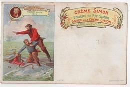 CPA Publicitaire Litho Crème Simon écrivains Jules Verne Nautilius - Advertising