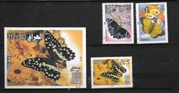 Irak:Bf N°100 Et N°156/47/48** Faune Papillons - Iraq