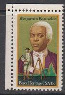 USA 1980 Black Heritage / Benjamin Banneker 1v (corner) ** Mnh (41864D) - Verenigde Staten