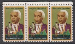 USA 1980 Black Heritage / Benjamin Banneker 1v Strip Of 3  ** Mnh (41864E) - Verenigde Staten