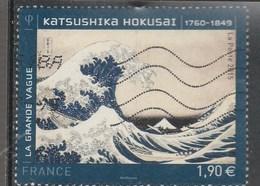 FRANCE 2015 LA GRANDE VAGUE OBLITERE  KATSUSHIKA HOKUSAI YT 4923 - Frankreich