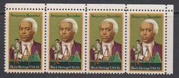 USA 1980 Black Heritage / Benjamin Banneker 1v Strip Of 4  ** Mnh (41864F) - Verenigde Staten