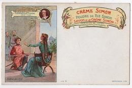CPA Publicitaire Litho Crème Simon écrivains Corneille Le Cid - Advertising
