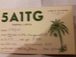CARTE QSL RADIO AMATEUR LIBYE TRIPOLI 1959 - Radio Amateur