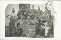 CPA Photo Groupe De Militaire Les Amies De La Boucherie Militaire Classe De 1908 - 1909 - Guerre 1914-18