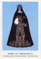 Monopoli (Bari) - Santino MARIA SS. ADDOLORATA Chiesa Del Purgatorio - P90 - Religione & Esoterismo