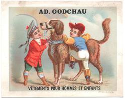 Chromo Grand Format. Ad. Godchau. Le Jeune Jockey S'apprete à Monter Le Chien. Cane Montato Da Fantino. Appel 3-1-3/10 - Autres