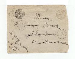 Sur Enveloppe Vers France Par Bateau Cachet Correspondance Militaire Porto Novo Bénin Mai 1901. CAD Haut Dahomey. (1087x - Bénin (1892-1894)