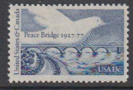 USA 1977 Peace Bridge 1v ** Mnh (41864F) - Verenigde Staten