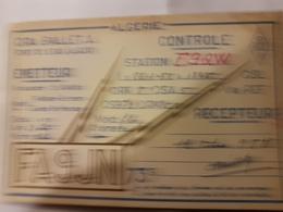 CARTE QSL RADIO AMATEUR ALGERIE FORT DE L'EAU 1951 - Radio Amateur