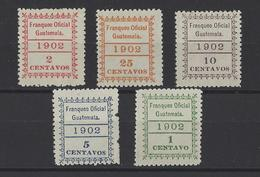 GUATEMALA. YT  Timbres De Service  N° 1/5  Neuf **  1902 - Guatemala