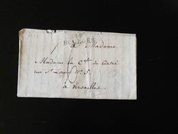 LETTRE DE BOURGES POUR VERSAILLES   -  1827  - - Postmark Collection (Covers)