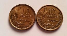 FRANCE - 10 FRANCS 1953  - 1953 B TYPE GUIRAUD (B8-02) - France