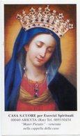 Ariccia (Roma) - Santino MADONNA MATER PIETATIS Casa Sacro Cuore Per Esercizi Spirituali - OTTIMO P90 - Religione & Esoterismo