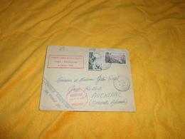ENVELOPPE UNIQUEMENT DE 1957. / PREMIERE LIAISON AERIENNE DIRECTE PARIS AUCKLAND. CACHETS + TIMBRES - Postmark Collection (Covers)