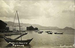 Malay Malaysia, PENANG, Municipality, Panorama (1910s) RPPC Postcard - Malaysia