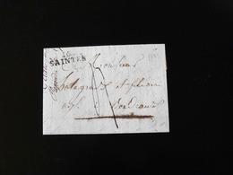 LETTRE DE SAINTES POUR BORDEAUX   -  1823  - - Postmark Collection (Covers)