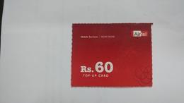 India-airtel Prepiad Card-(52a)-(rs.60)-(new Delhi)-()-(look Out Side)-used Card+1 Card Prepiad Free - India