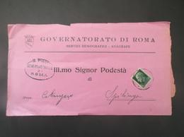 REGNO ITALIA BIGLIETTI CON OVALE DI FRANCHIGIA COMUNALE GOVERNATORATO ROMA REGIE POSTE 1923 - 1900-44 Vittorio Emanuele III