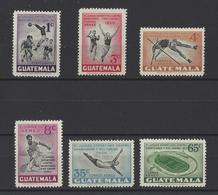 GUATEMALA. YT  PA  N° 173/178  Neuf *   1950 - Guatemala