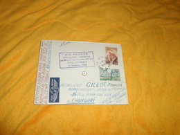 ENVELOPPE UNIQUEMENT DE 1966. / AIR FRANCE PREMIERE LIAISON PAR BOEING INTERCONTINENTAL 707..PARIS CHANGHAI. CACHETS + T - Postmark Collection (Covers)