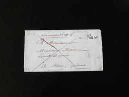 LETTRE DE BOUSSAC POUR RIOM   -  1823  - - Postmark Collection (Covers)