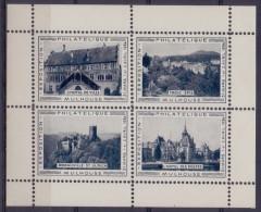 FRANCE :1934: Feuillet De 4 Vignettes/Cinderellas – MNH: ## MULHOUSE: Exposition Philatélique ##:PHILATELY,ARCHITECTURE - Commemorative Labels