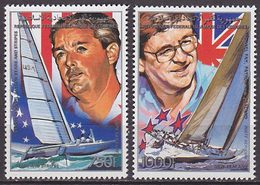 Série De 2 TP PA Neufs ** N° 268/269(Yvert) Comores 1988 - Marine, Coupe De L'America - Comores (1975-...)