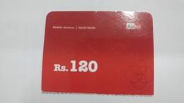 India-airtel Prepiad Card-(52b)-(rs.120)-(new Delhi)-()-(look Out Side)-used Card+1 Card Prepiad Free - India