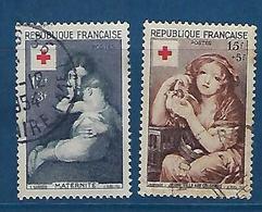 """FR YT 1006 & 1007 """" Croix-Rouge """" 1954 Oblitéré - France"""