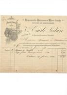 1911 Salaison Marée Fraiche Facture Emile Ledun Fécamp Rue Des Corderies TB - France