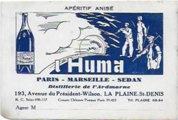 LA PLAINE SAINT DENIS L HUMA DISTILLERIE - Visiting Cards