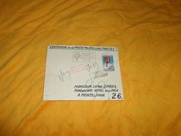 ENVELOPPE UNIQUEMENT DE 1971. / FLAMME CENTENAIRE DE LA POSTE PAR BALLONS MONTES..PARIS POUR MONTELIMAR..CACHET + TIMBRE - Postmark Collection (Covers)
