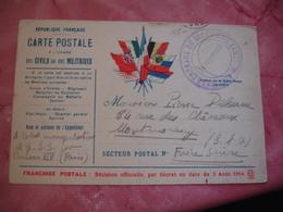 Service General Du Service De Sante Cachet Franchise Postale Militaire Guerre 14.18 - Marcophilie (Lettres)