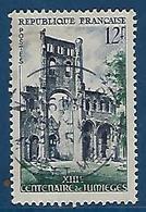 """FR YT 985 """" L' Abbaye De Jumières """" 1954 Oblitéré - France"""