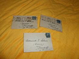 LOT DE 3 ENVELOPPES UNIQUEMENT DE 1920. / CACHETS METZ POUR FREISTROFF...+ TIMBRE - Postmark Collection (Covers)