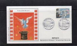 Monaco 1989 Fdc 5 ème Grands Prix De Magie 2497 - FDC