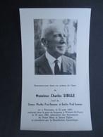 VP FAIRE-PART DéCéS (M1611) CHARLES SIBILLE (2 Vues) Florennes 15/08/1881 - Woluwe St Pierre 19/03/1961 - Décès