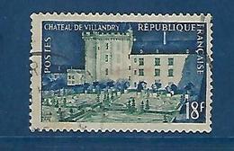 """FR YT 995 """" Chateau De Villandry """" 1954 Oblitéré - France"""