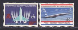 """NOUVELLES-HEBRIDES N°  276 & 277 ** MNH Neufs Sans Charnière, TB (D8652) Avion Supersonique """" Concorde """" 1968 - Légende Française"""