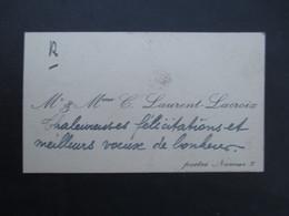 VP CARTE DE VISITE (M1611) Mr & Mme C. LAURENT - LACROIX (2 Vues) Postes Namur 2 - Visiting Cards