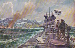 AK Dt. U-Boot Im Eismeer - Beschießung V Alexandrowsk - Durch Not Und Tod Zum Sieg - Stöwer - Patriotika - 1. WK (39582) - Guerre 1914-18
