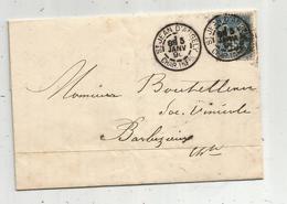 Lettre ,1890 , ST JEAN D'ANGELY, Charente Inférieure , BARBEZIEUX ,Charente , 2 Scans - Marcophilie (Lettres)
