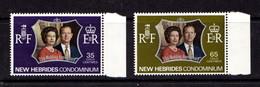 NEW  HEBRIDEST    1972    Royal  Silver  Wedding    Set  Of  2    MNH - English Legend