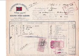 Connaissements Navigation Cotière Algérienne..Djidjelli>Alger..Algérie Période Coloniale 1911 - Transports