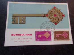 FRANCE (1968) EUROPA (conseil De L'europe,strasbourg) - Maximum Cards