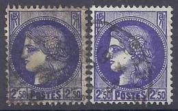 No . 375A  0b    Teinte - France