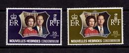 NEW  HEBRIDEST    1972    Royal  Silver  Wedding    Set  Of  2    MNH - French Legend