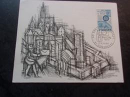 FRANCE (1967) Société Philatélique UNION (strasbourg) - Maximum Cards